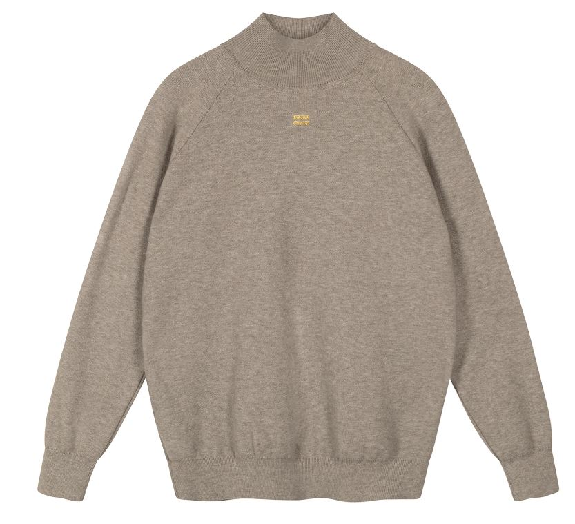 10Days knitted high neck sweater light grey