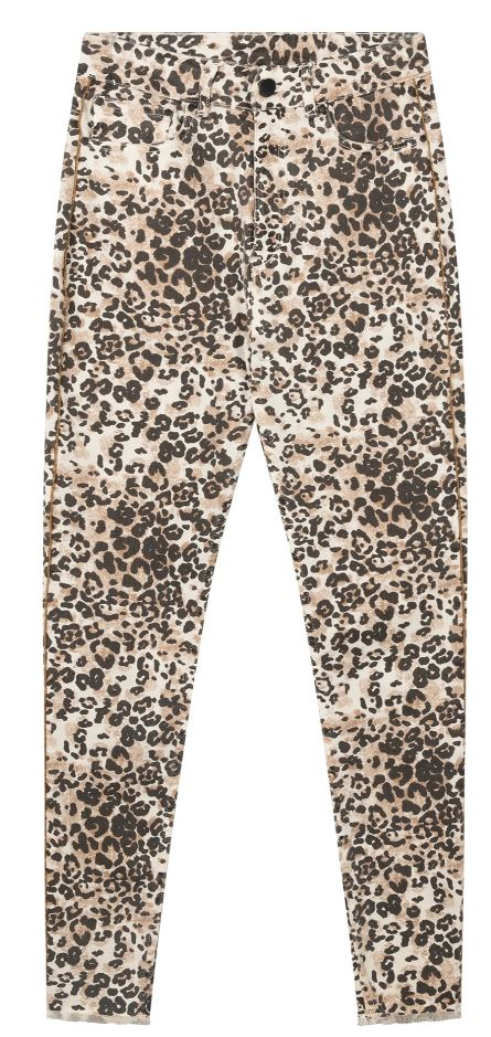 10Days skinny denim leopard winter white