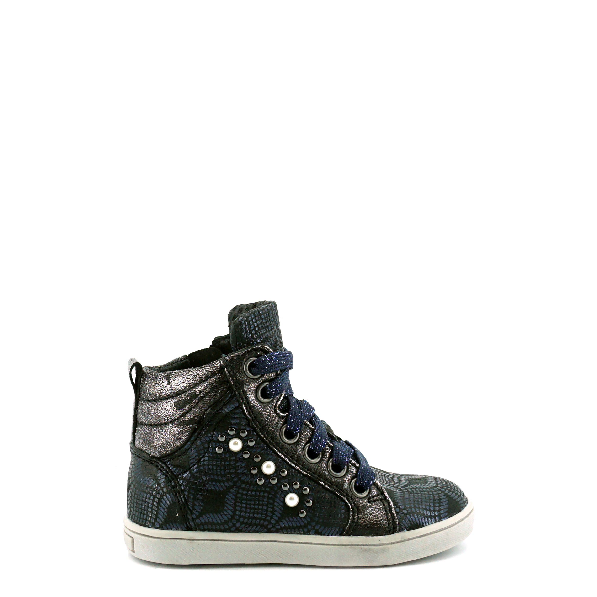 Meisjes Veterboot Twins 319601 navy 3.5