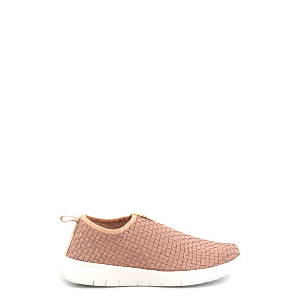 Dames Sneaker FitFlop Stripknit slip on roze