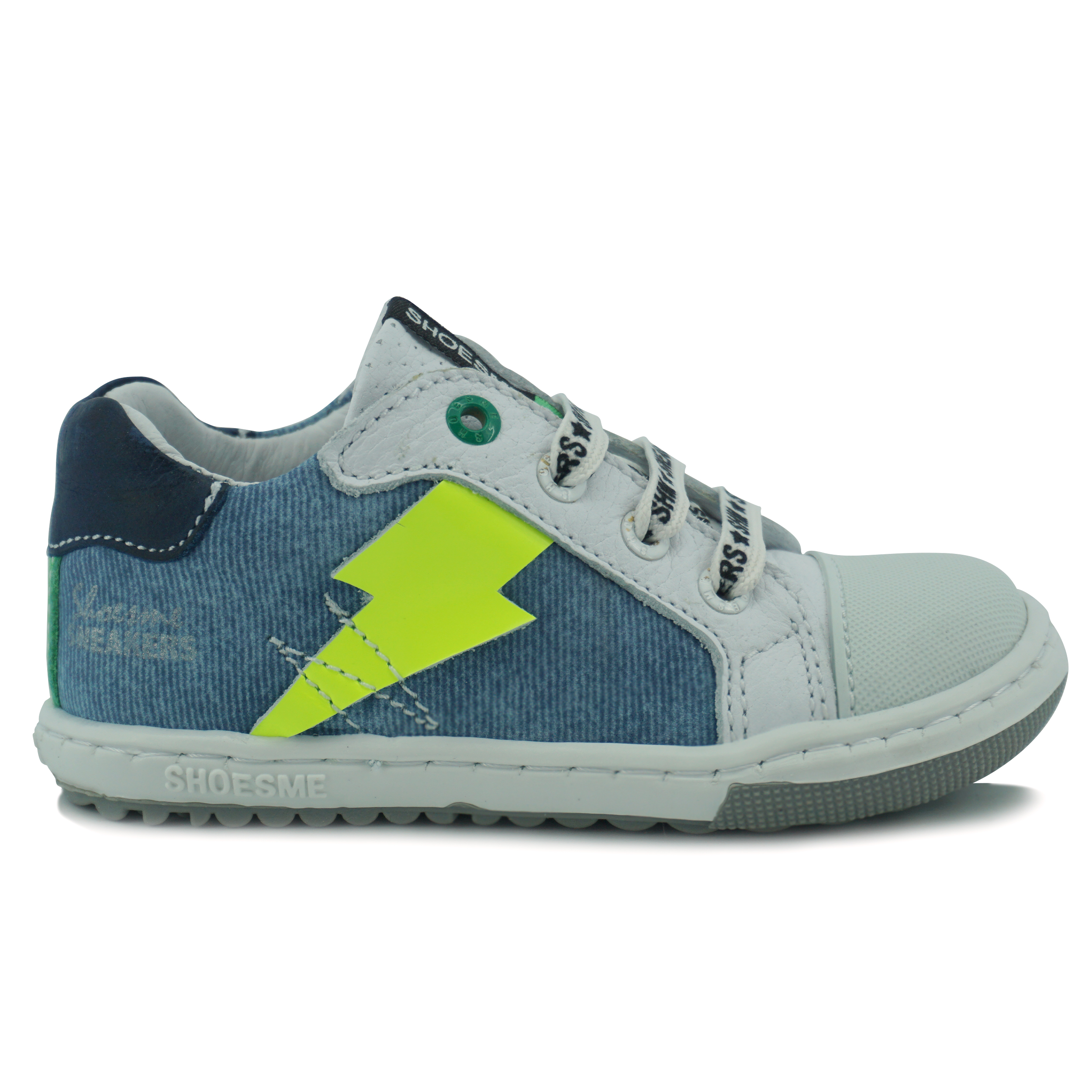 Shoesme EF sneaker jongens wit denim