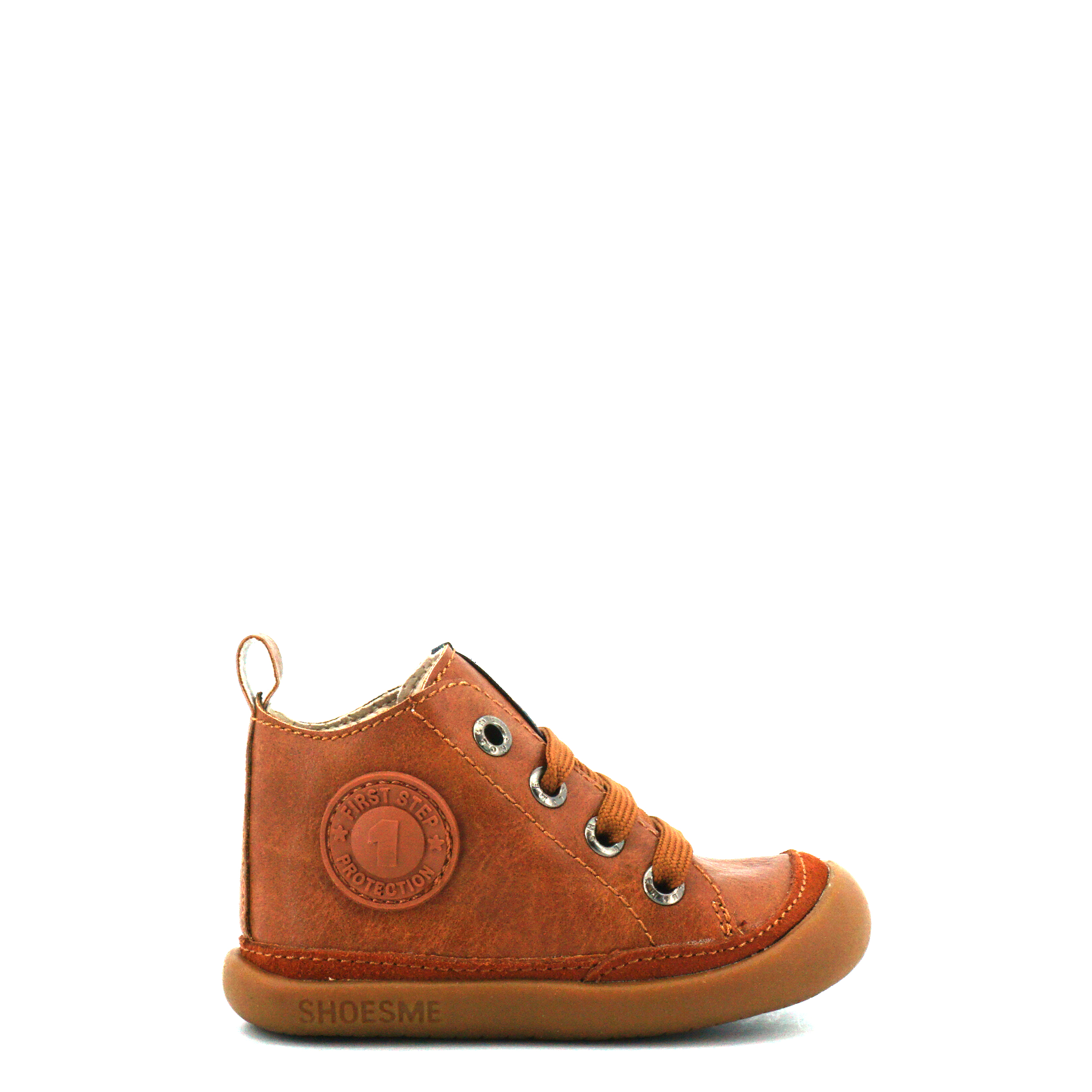 Kinderen Veterboot Shoesme Baby-flex bf8w001 cognac