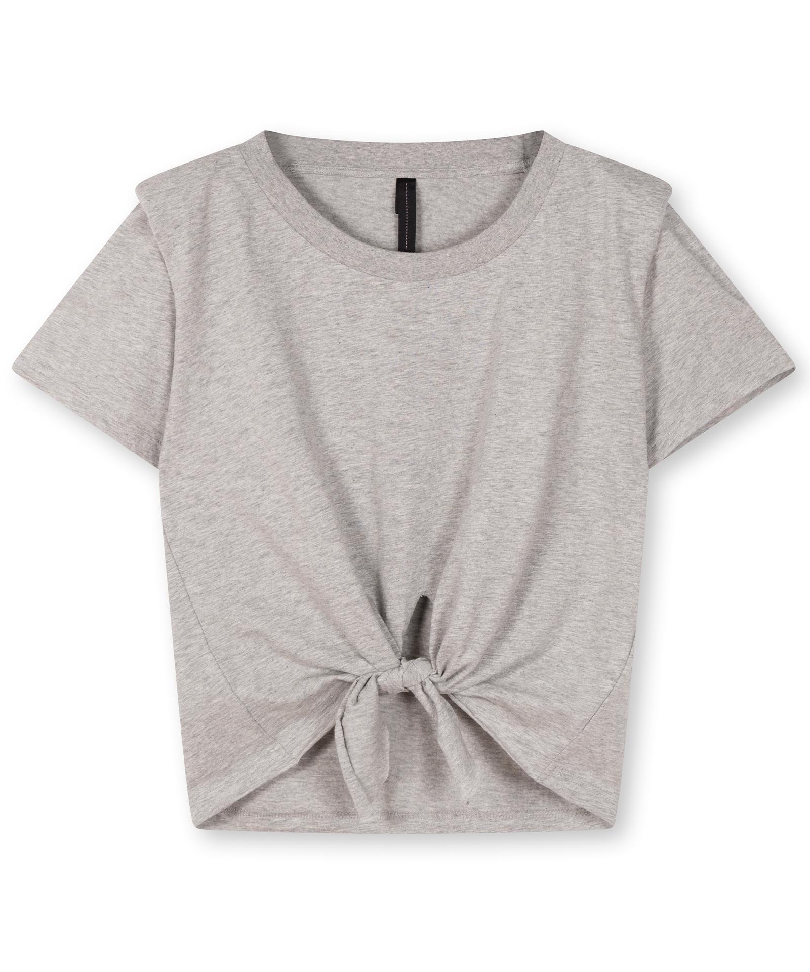 10Days Padded knotted tee light grey melee 20-740-1203