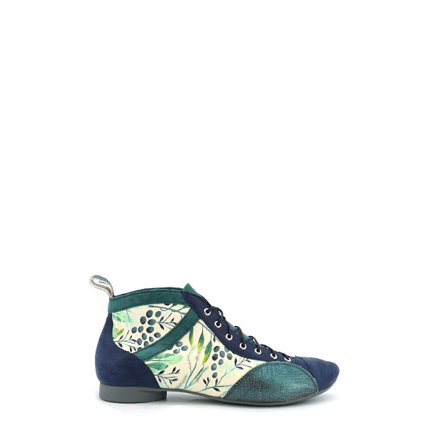 Dames Veterboot Think Guad blauw