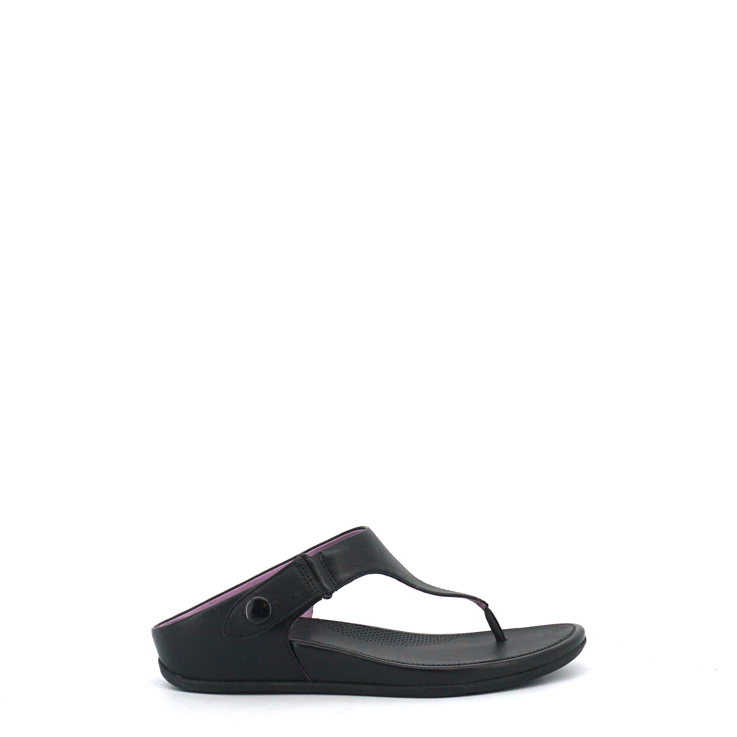 Fitflop slipper Gladdie Toe-Post zwart